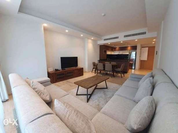 Brand new 2bhk apartment+maid room for rent in dilmunia island+balcony