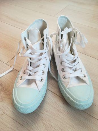 Trampki Converse białe pastelowe miętowe Chuck Taylor All