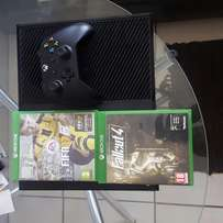 Xbox one(500GB) + 3 Games(FIFA 17,Fallout 4 and Mass Effect Andromeda)