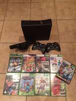 X Box 360 with Kinect & 2 Controllers & 9 Games for sale  George