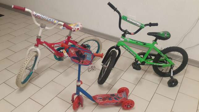 2 x Baby cycles / 1x scoter all in one price Midrand - image 1