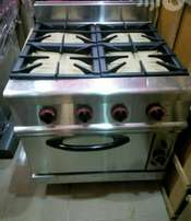 Industrial 4Burner Cooker With Oven