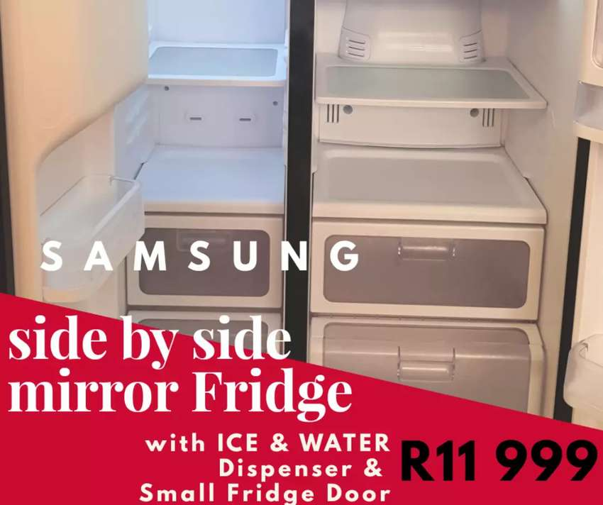 Samsung Mirror Side By Side Fridge Homeware Appliances