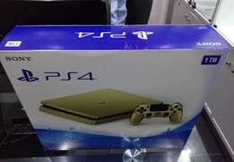 Gold colour PS4 game console