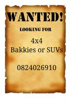 4x4s wanted