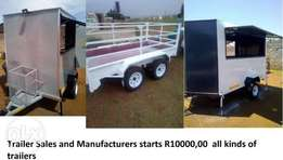 Mobile kitchens and other luggage trailers