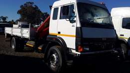 8 Ton Dropside With PK 8500 Front Mounted Crane 2008 TATA 1518C