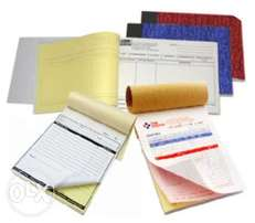 Receipt books / invoice / delivery books / quotation / orderbooks