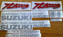 Suzuki TL 1000S graphics stickers decal sets