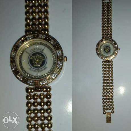 Copy Versace stainless steel watch ivory dial