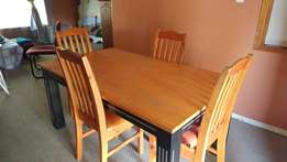 Dining room set with chairs