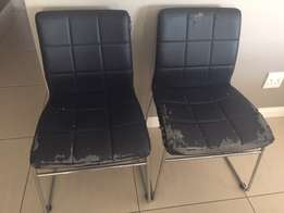 2 x black chairs