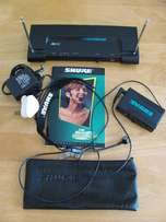 Wireless Shure Diversity Headset Microphone/transmitter and Receiver