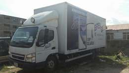 Mitsubishi Canter with 20ft built in container
