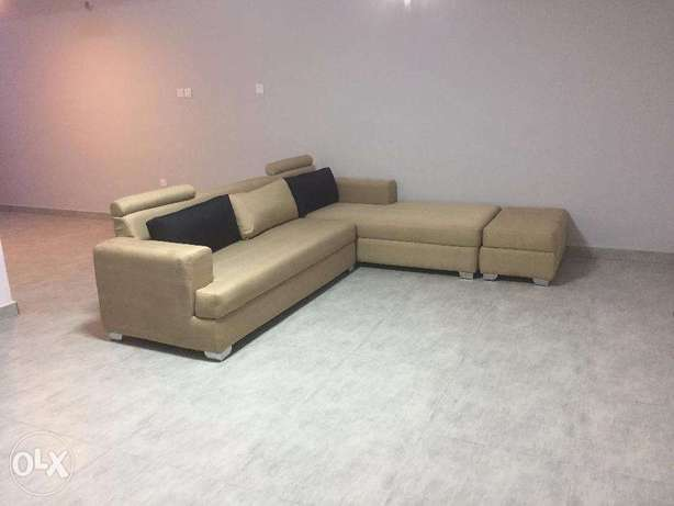 Race Car Inspired Light Brown 5 Seater Fabric Sectional Sofa Lagos - image 1
