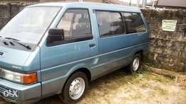 Blue Nissan vanette bus available for sell