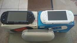 PSP + cover + exstra PSP for parts + 2x memory cards