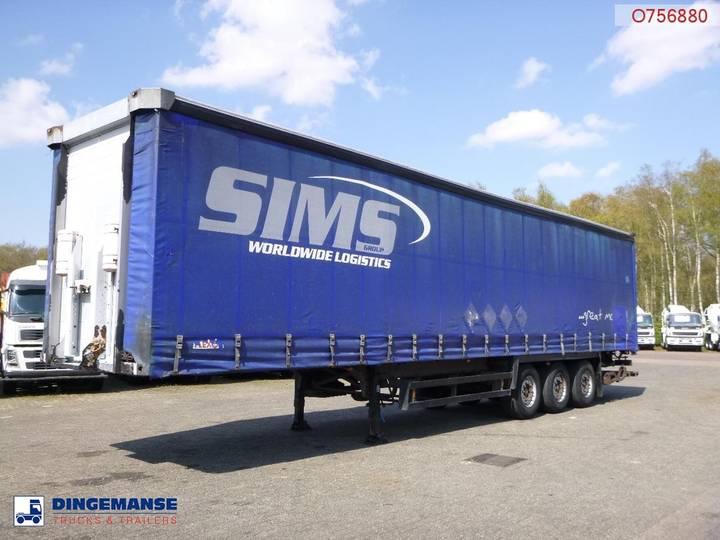 Schmitz Cargobull Curtain side trailer 92.6 m3 + Dhollandia taillift - 2007