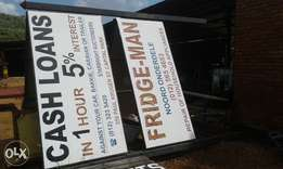 Advertising board with 4 sign boards 2.4m x 1.2m 3 legs