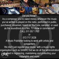 Music company will Market, Publish & Release your music free of charge