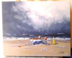 The Storm. Stunning painting by Inge.
