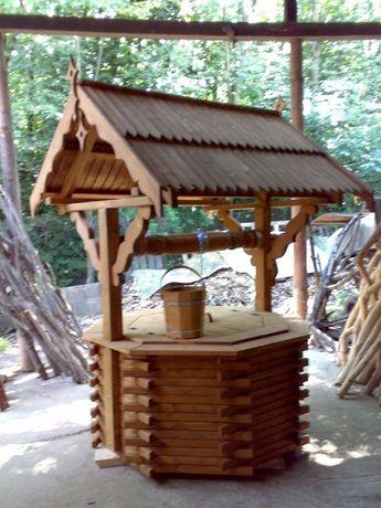 Studnia Drewniana Studnie Dekoracyjne Obudowa Studni