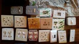 Electric plugs and light switches