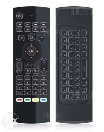 Air mouse remote control with keyboard for gaming and smart TV