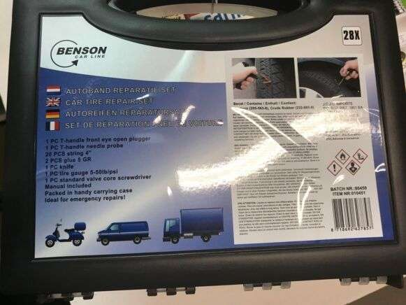 Benson Tire Repair Kit Automotive Tool For Sale By Auction