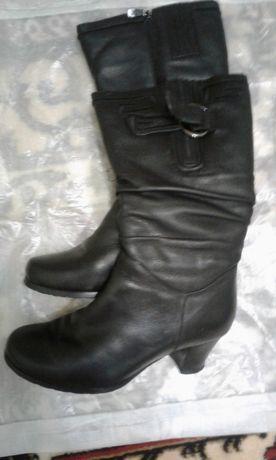 1b098f300bf18f Шкіряні зимові (на цегейці) жіночі чоботи, розмір -38, відмінний стан  Тернопіль