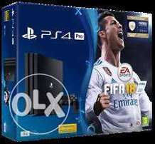 Ps4 pro 1TB bundle plus FIFA 18