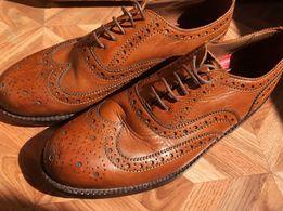 ee001db3b Мужские броги ботинки туфли дерби классические Grenson Stanley leather
