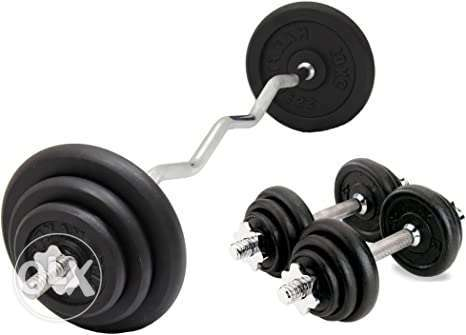Olympia 50Kg Black Painted Dumbbell Set - without box..