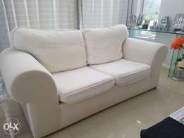 2 Cream Fabric Couches for sale