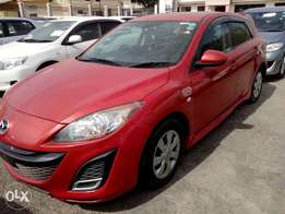 Mazda axela red color fresh import 2010 model new number