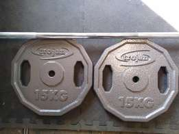 Brand New Trogan Weights.2X15KG+Barbell.