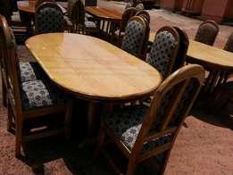 Six chairs dininig table