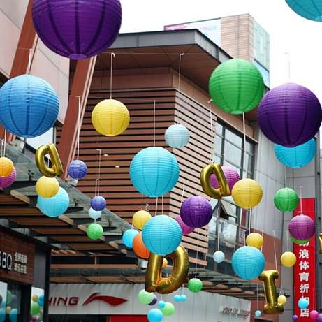 16 Inch Mixed Color Wedding Paper Lanterns Kileleshwa - image 2