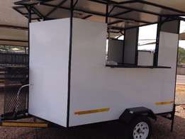 2,4 Mini Fast Food/Catering Trailer - new - fully equipped - RWC