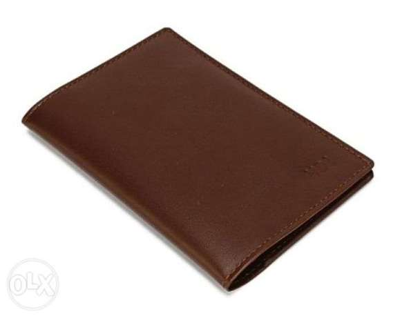 Leather Brown Passport Cover with Credit Card Slots KHL-09