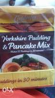 Golden fly yorkshire pudding and pancake.
