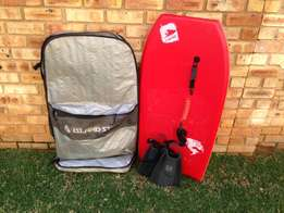 Manta Body board, island style bag and redley flippers.