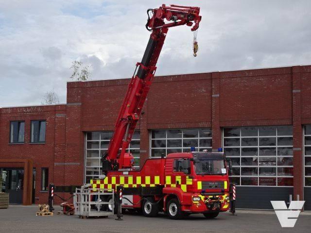 "MAN TGA 35.440 8x2*6 Fire department crane truck ""HMK 550TA - 2009"
