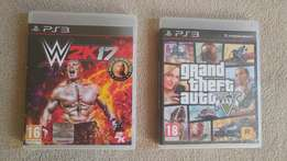 W2k17 and GTA 5 for sale