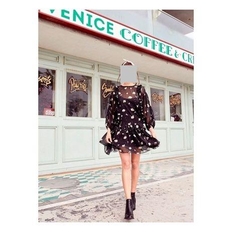 Stevie May sukienka czarna w kawiatuszki boho etno S nowa