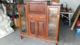 imbuia ball and claw cabinet
