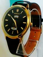 Rolex variety leather watches,in silver and gold at 2000ksh.