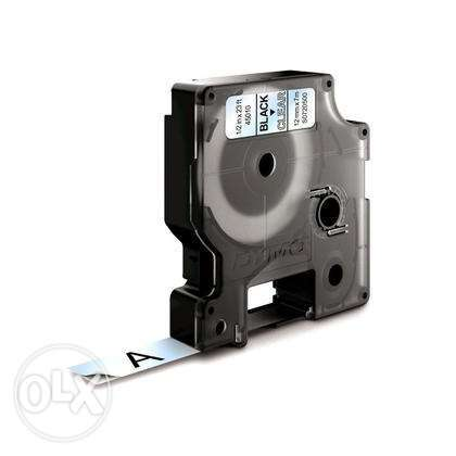 شريط ليبل دايمو Dymo D1 label tape 12mm black/clear