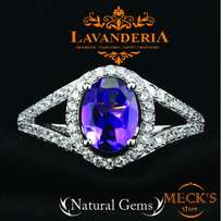 Genuine natural Amethyst silver Engagement Ring For Women