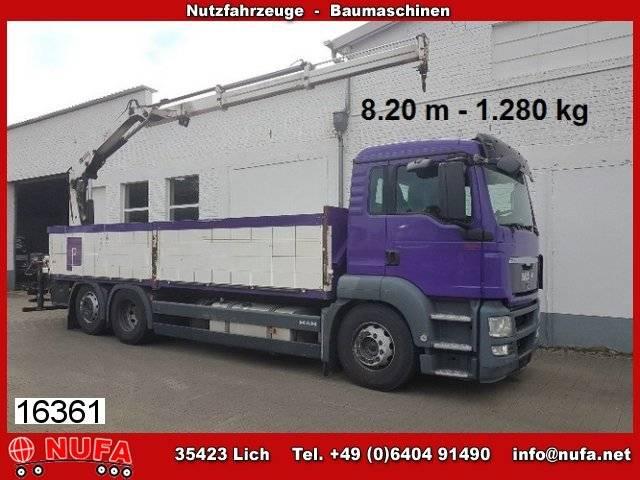 Hiab man tgs 26.400/6x2-2 ll, kran  122 b-2 cl 8,20 m - 2011